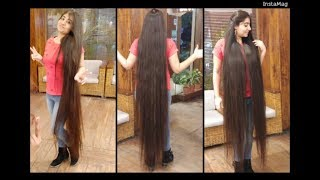 Beautiful Extremely Long Hair | Real Rapunzel on Motorbike  | Haircut Expert by Shyama's Makeover