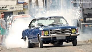 Chevrolet Opala 6cc & Caravan SS - Burnout e ronco Monstro!