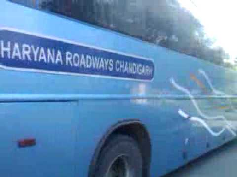 Delhi to chandigarh volvo bus service by Haryana roadways. Ticket price is