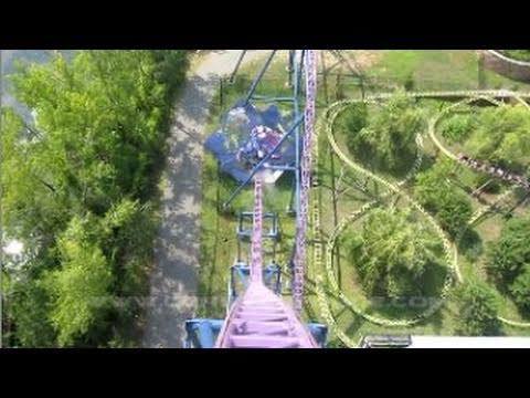 Bizarro Front Seat on-ride HD POV (with full audio) Six Flags New England