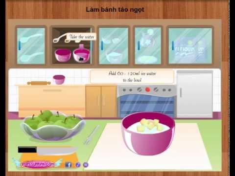 Game | Game nau an Làm bánh táo ngọt | Game nau an Lam banh tao ngot