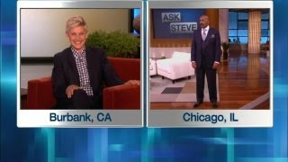 Ellen in Steve Harvey
