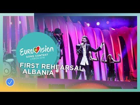 Eugent Bushpepa - Mall - First Rehearsal - Albania - Eurovision 2018