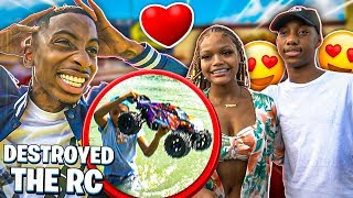 JAY FINALY MEETS HIS CRUSH EMILY! ( I CRASHED THE RC CAR IN POND)
