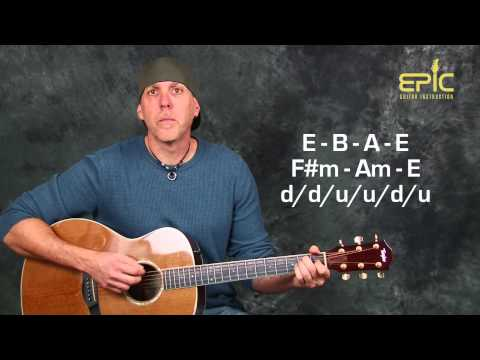 Learn to play The Beatles Nowhere Man easy acoustic guitar lesson with strums chords and more
