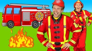 Firefighters Song for Kids - Fire Truck Song - Fire Trucks Rescue Team | Kids Songs