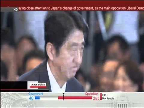 Shinzo Abe Victory Speech - NHK World