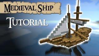 Minecraft Tutorial: How to build a medieval ship (Tradeship) Version 2