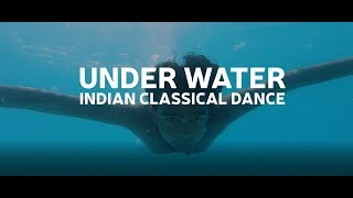 World's first underwater classical dance performance by Indian Classical Dancer Aaromal