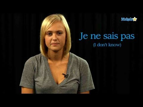 How to Say &quot;I Don't Know&quot; in French -290Uc5n9_Zk