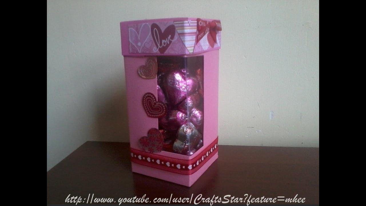 Original caja con chocolates scrapbook manualidades for Cajas para manualidades