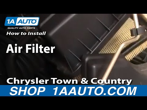 How To Install Replace Air Filter Chrysler Town and Country 01-07 1AAuto.com