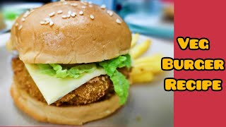 McDonald's style Veg Burger | Mcveggie | Veg Cheese burger | Veg crispy burger | Veg burger at home