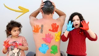 LEARN COLORS BODY PAINT FINGER FAMILY SONG NURSERY RHYMES FOR CHILDREN - APRENDENDO AS CORES