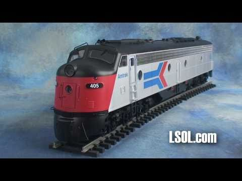 Garden Trains: Aristo-Craft E8 Locomotive Outside/In!
