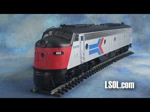 Garden Trains: Aristo-Craft E8 Locomotive Outside/In!
