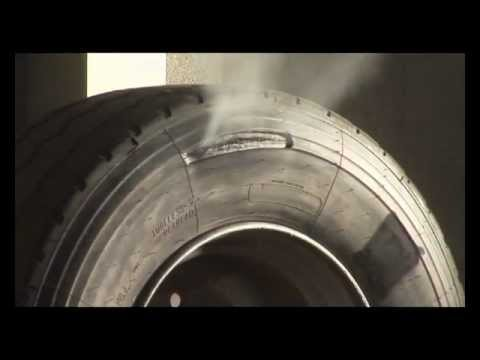 Heavy tyre explosions - equivalent to being hit by a truck