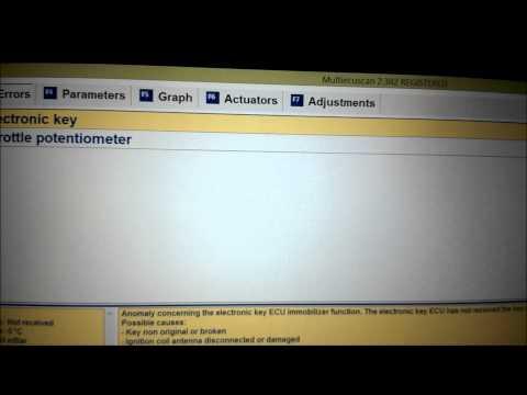Multiecuscan 2.3 Fiat Punto 1.2 8V Error Codes and ECU Reset
