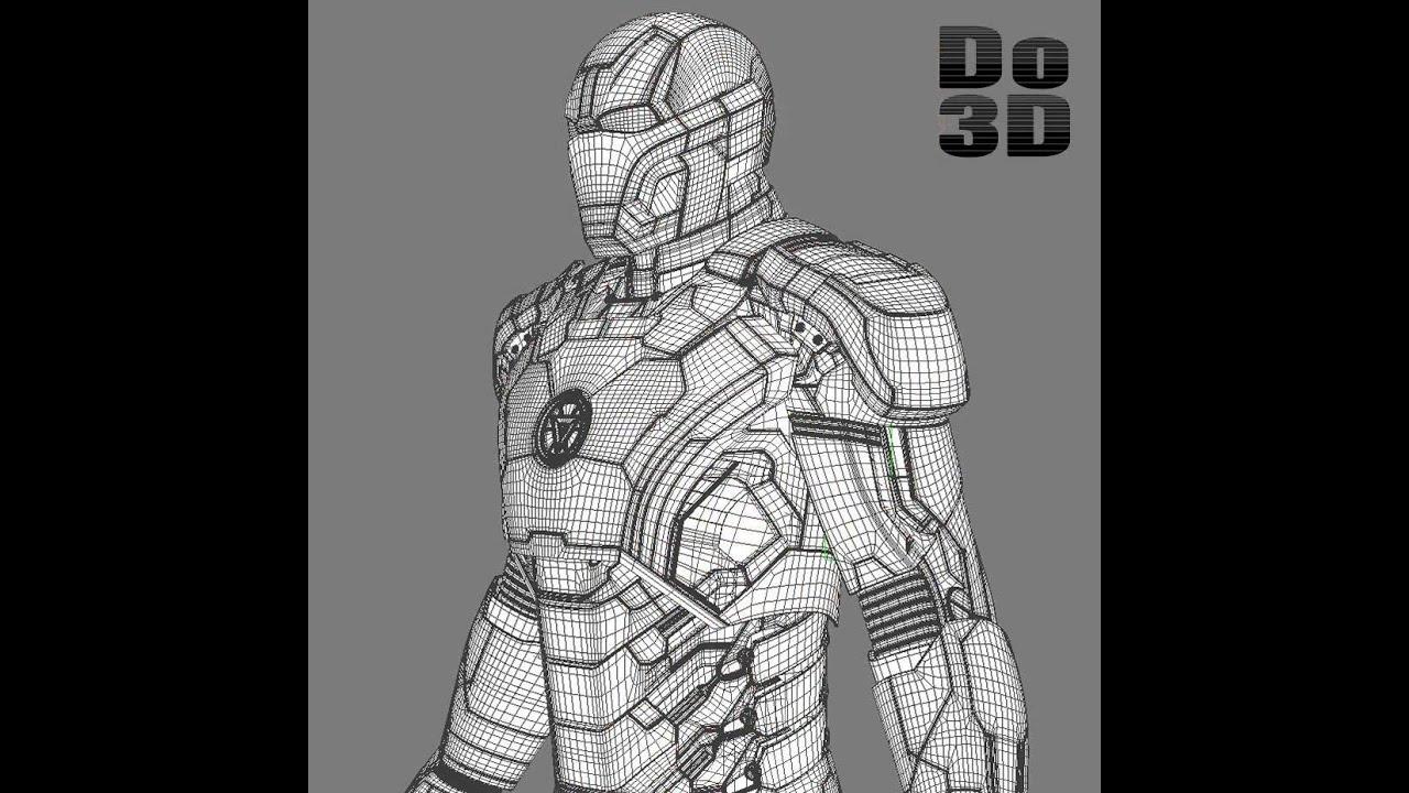 Iron Man Mark 42 3d Model Iron Man 3 Suit Mark 42