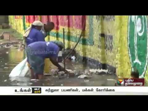 Courtallam : Report on water from the waterfalls being contaminated and creating hygiene issues