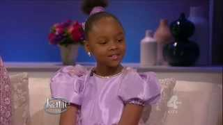 8-year-old polyglot Mabou Loiseau (8 languages, 8 musical instruments, sings) on Katie Couric