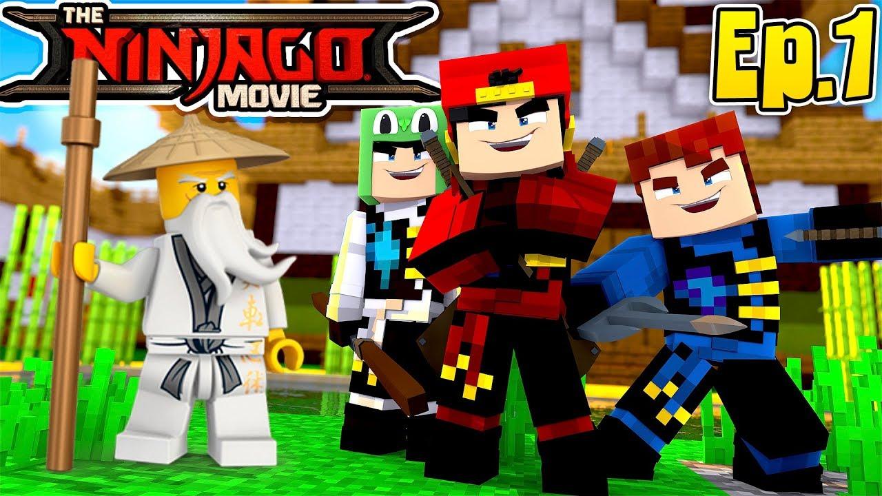 Minecraft LEGO NINJAGO - ROPO, LITTLE LIZARD & SCUBA STEVE BECOME NINJAGO'S!!