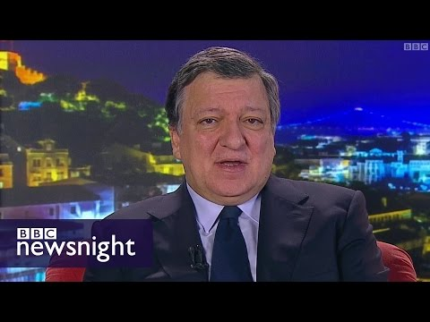 """""""No. Frankly, not"""" - Jose Manuel Barroso: benefits brake wouldn't make a difference - BBC Newsnight"""