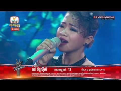 The Voice Cambodia - Ton Chanseyma -  Cry Me Out  - Live Show 29 May 2016