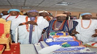 Birthday Oloffa | Oni, Elegusi, Buhari Omo Musa, Imam Offa And Sannu Sheu Celebrate With Oba Oloffa