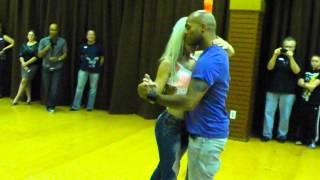Sara Lopez and Albir Rojas Dance Kizomba At D'Amico Dance Studio