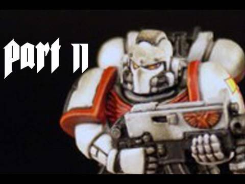How to paint White Scars Space Marine Part 2 by Lester Bursley