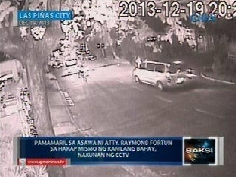 Saksi: Tagpo bago ang pamamaril sa misis ni Atty. Raymond Fortun, nakunan ng CCTV