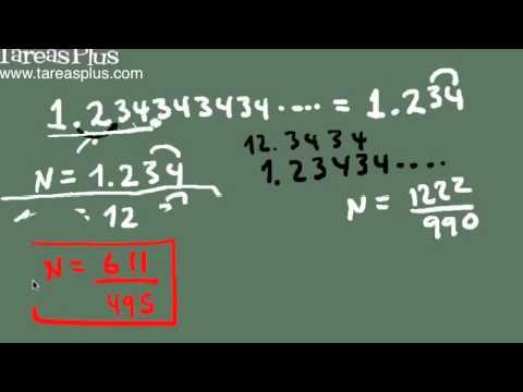 Convertir decimales periódicos en fracciones