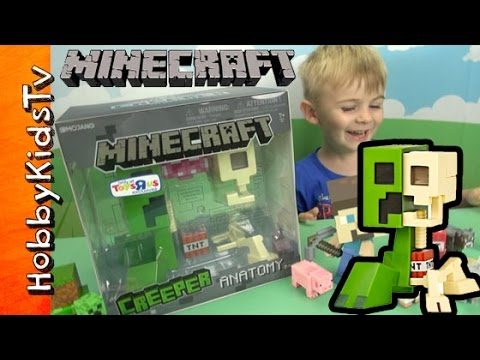Minecraft CREEPER Anatomy Deluxe Vinyl Figure TNT Steve [Box Open] Review by HobbyKidsTV