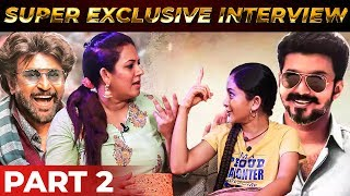 Thalaivar Fan VS Thalapathy Fan | Cute Interview with VJ Archana & Her Daughter Zaara