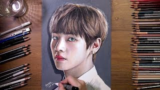 BTS : V (Tae Hyung) - colored pencil drawing | drawholic