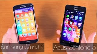Asus ZenFone 5 vs Samsung Grand 2 Сравнение