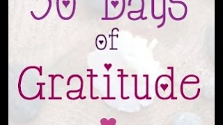 Results of my 30 Days of Gratitude