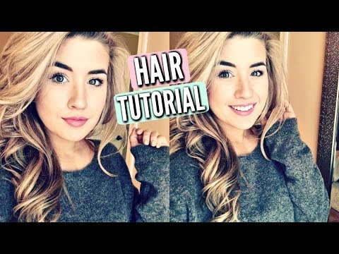 HOW I CURL MY HAIR TUTORIAL   CURLING WAND TECHNIQUE   2018