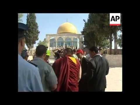 ISRAEL: JERUSALEM: TIBET'S SPIRITUAL LEADER DALAI LAMA VISIT