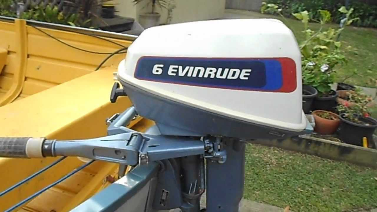 Evinrude 6hp Outboard Start Up
