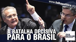 Renan Calheiros xinga Sergio Moro, ataca Lava Jato e é rebatido pelo senador Delegado Alessandro