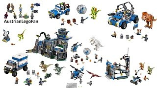 All Lego Jurassic World Sets - Lego Speed Build Review