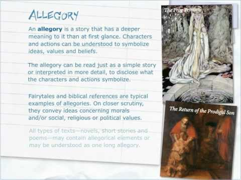 How to write and allegory
