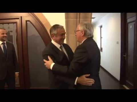 Cumhurbaşkanımız Mustafa AKINCI, Avrupa Komisyonu Başkanı Jean-Claude Juncker'i kabul etti.