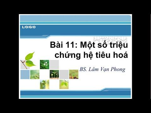 Học tiếng anh chuyên ngành Y-bài 11: Triệu chứng hệ tiêu hoá