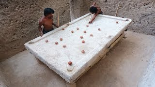 Most Unbelievable Creative! Made Snooker Table By Mud