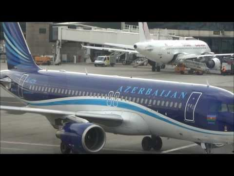 Airbus A320 Azerbaijan Airlines. New Livery. Pushback and Taxi. Flight J236