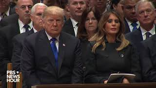 WATCH: Trumps, Obamas, Clintons and Carters share a pew at funeral of President George H.W. Bush