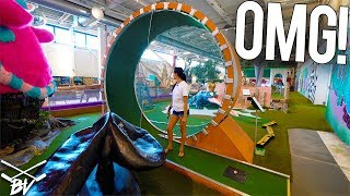 THE CRAZIEST MINI GOLF COURSE IN THE WORLD! - DOUBLE HOLE IN ONE AND INSANE HOLES!